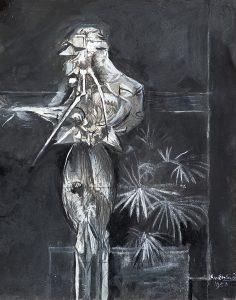 Graham Sutherland La Petite Afrique, mixed media on paper, 35.5 x 28 cm, Courtesy of Christopher Kingzett