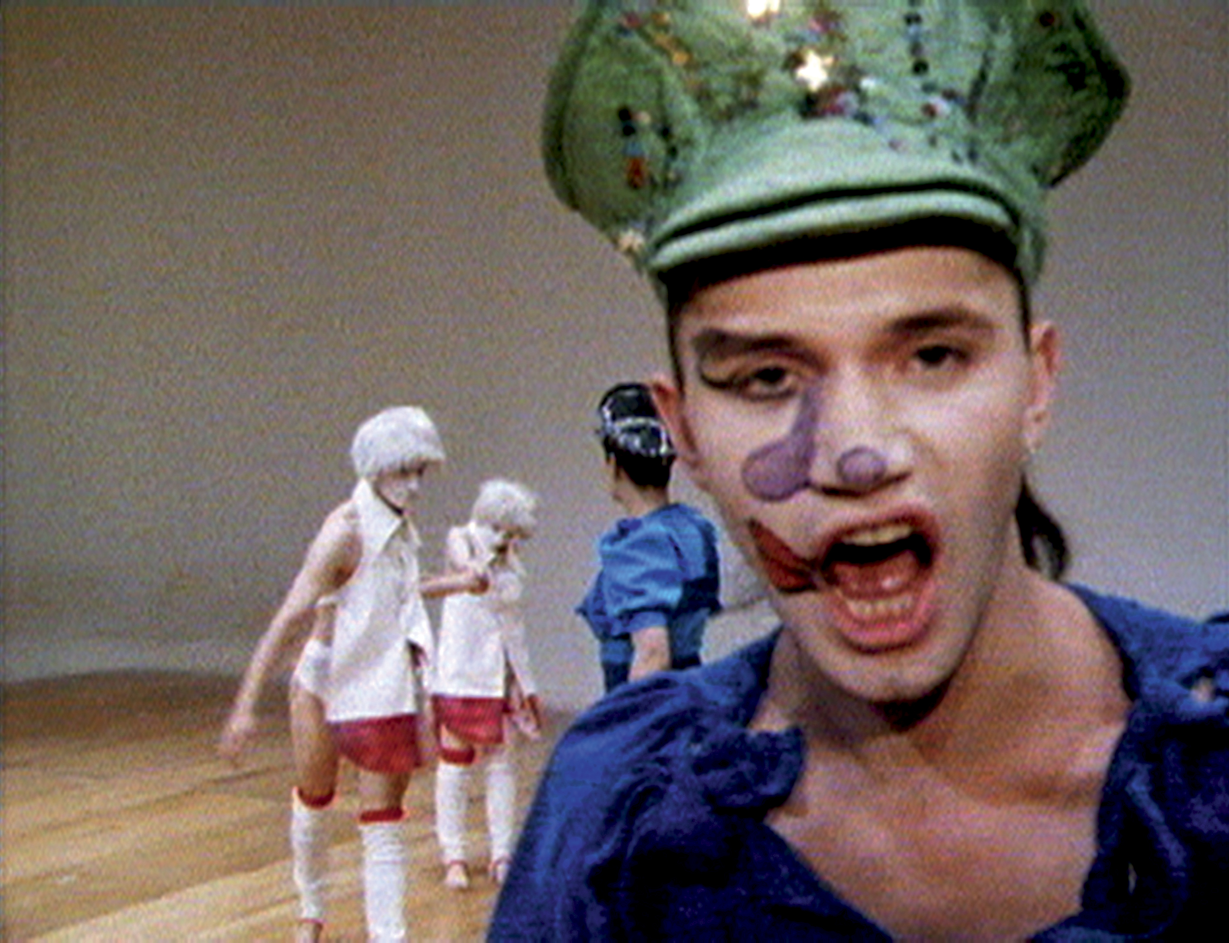 Michael Clark in Charles Atlas's Hail the New Puritan, 1986 Still, 16mm film transferred to video, sound, duration: 84:54 minutes. © Charles Atlas, courtesy the artist and Luhring Augustine, New York