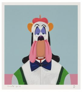 GEORGE CONDO (B. 1957) Droopy Dog Abstraction signed, dated and numbered 'Condo 2017 7/75' in pencil screenprint in colors, on Coventry Rag paper Image: 15 x 14 in. (38.1 x 35.6 cm.) Sheet: 18 x 16 in. (45.7 x 40.6 cm.) Executed in 2017. This is number 7 from the edition of 75. Published by Art + Culture, Brooklyn. FAD magazine