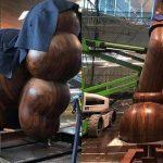 KAWS massive sculpture on FAD MAGAZINE