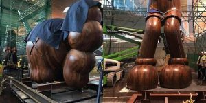 KAWS massive sculpture on FAD MAGAZINE