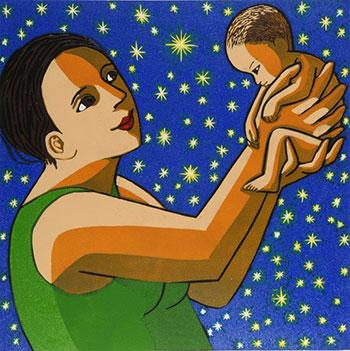 Anita Klein The Miracle 2020 Linocut