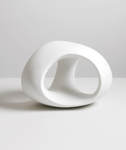 HENRY MOORE Three Way Ring, 1966 Porcelain 9 11/16 x 13 3/8 x 11 3/8 inches (24.6 x 34 x 29 cm) Ed. of 6 Reproduced by permission of The Henry Moore Foundation
