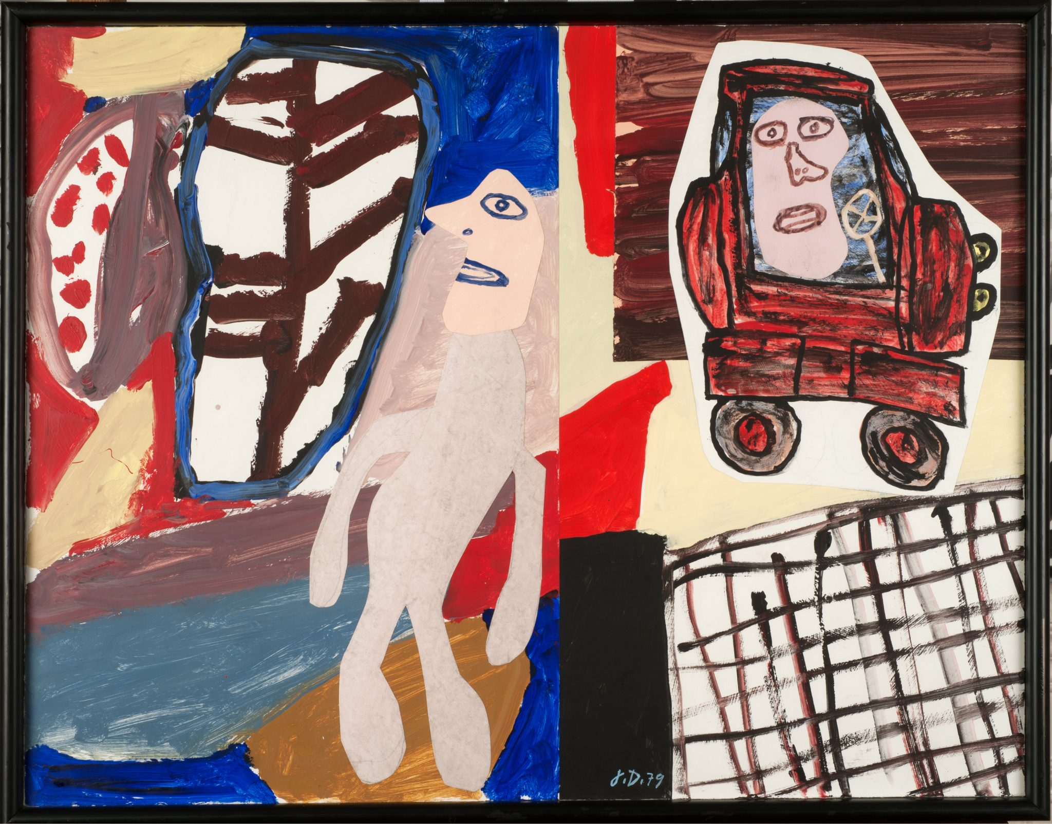 Jean Dubuffet Site avec auto, November 12, 1979 acrylic on canvas-backed paper (7 sections) © ADAGP, Paris and DACS, London 2017 FAD Magazine