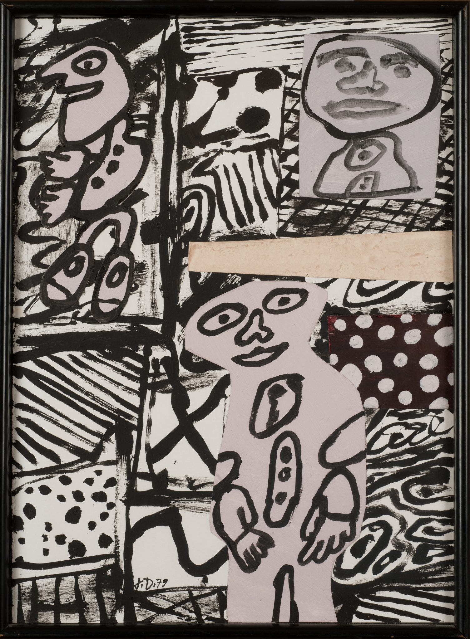 Jean Dubuffet Séquence XVIII, April 2, 1979 acrylic on paper (5 sections) FAD magazine