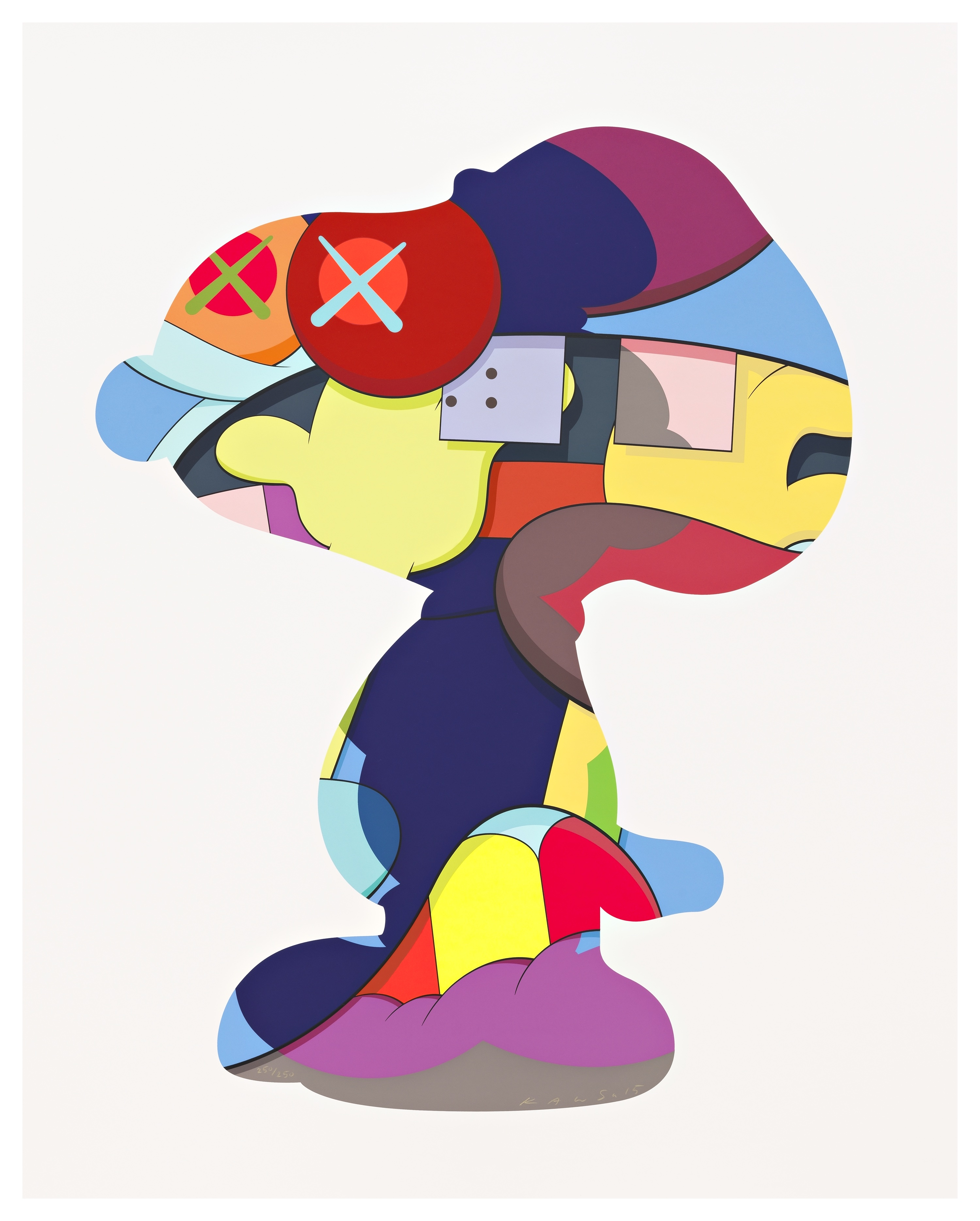 KAWS, NO ONES HOME, 2015. COURTESY OF PACE PRINTS