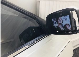 Paul Abbott Old English (Passenger) 2019 Rover 800 nearside door shell, glass, mirror, media player, Dimensions variable.