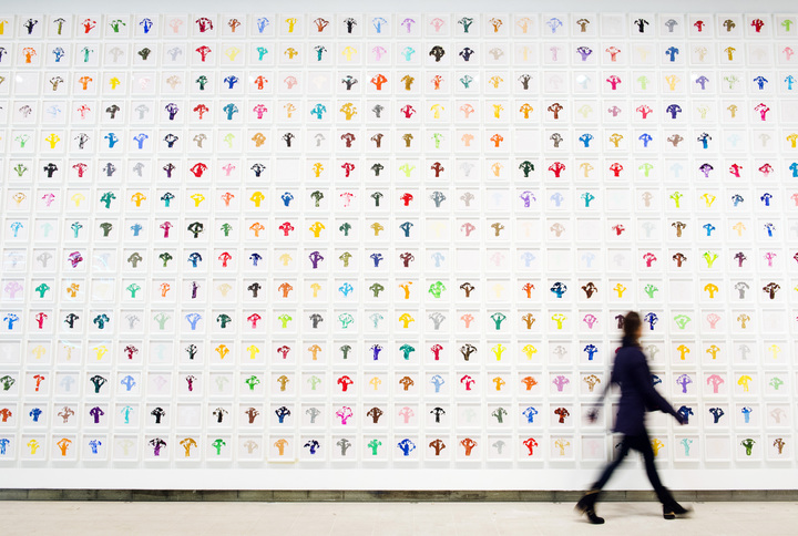 Work no. 1000 ,2009-2010Martin Creed, What's the Point of it, Hayward Gallery, 2014 Installation view, photo Linda Nylind