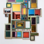 """Song Dong, Usefulness of Uselessness - Varied Window No. 12, 2018-2019, old wooden windows, mirror, mirror panel, glass, 188 cm × 240 cm × 8 cm (74"""" × 94-1/2"""" × 3-1/8"""") © Song Dong 66221.02.jpeg Song Dong, Eating the City - Vienna 02, 2007, color photograph, 90 cm x 60 cm (35-7/16"""" x 23-5/8""""), Edition of 5 + 2 APs © Song Dong"""