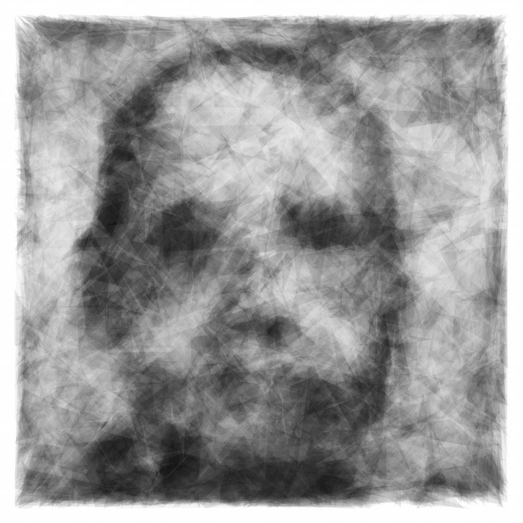 """Trevor Paglen AC, 2020 pigment on textile 45.7 cm × 45.7 cm (18"""" × 18"""") FAD magazine"""