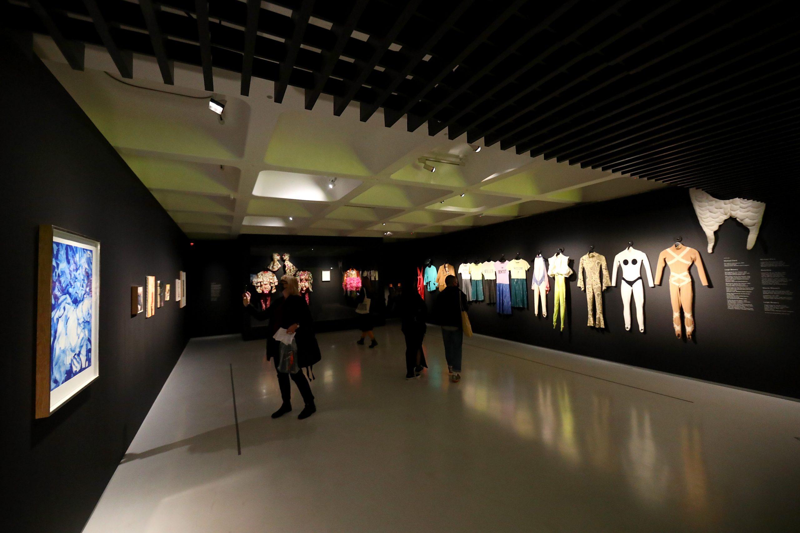 Michael Clark: Cosmic Dancer Installation View Barbican Art Gallery