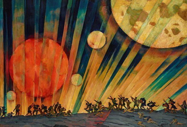New Planet, 1921 by Konstantin Yuon. Photograph: © State Tretyakov Gallery, Moscow/DACS 2017