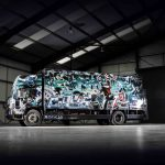 A 17-ton truck covered in Banksy artwork is up for auction at the Goodwood Revival sale. FAD magazine