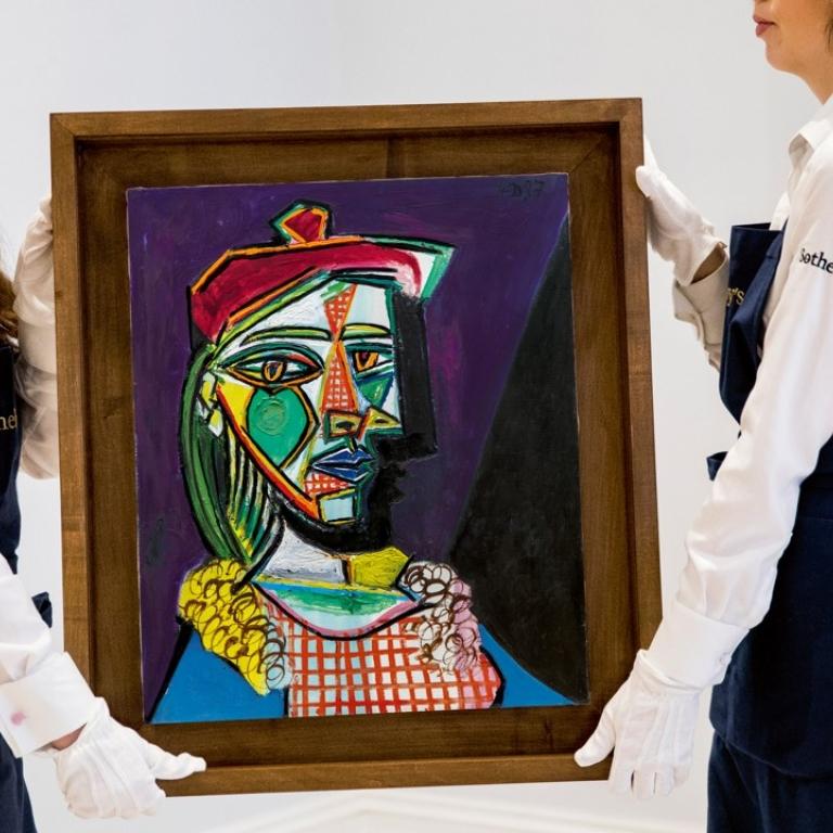 Femme au beret et la collerette (Woman with Beret and Collar) (March 6, 1937)