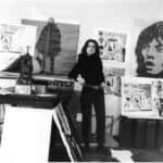 Jacqueline de Jong in her studio at CitéProst, 1968 FAD magazine