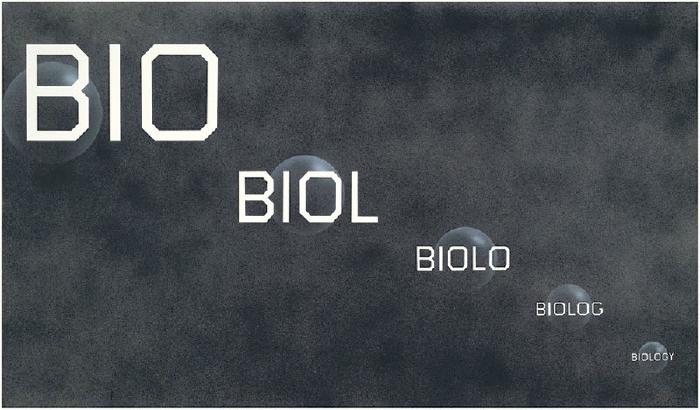 Ed Ruscha, Bio, Biology, 2016, acrylic on canvas, 72 × 124 inches (182.9 × 315 cm) © Ed Ruscha