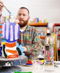 John Booth at the Arto LIFEWTR lounge Frieze London 2019John Booth at the Arto LIFEWTR in his studio