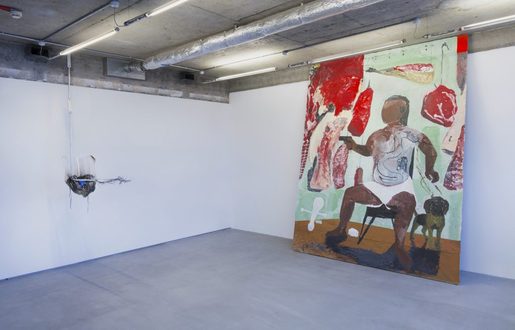 Adriano Amaral, Untitled, 2018, and Maïa Regís, Ramon Reyna, 2018 courtesy VO Curations
