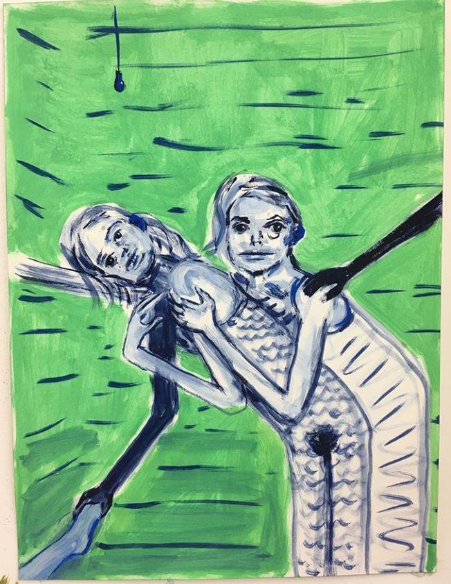 FAD MAGAZINE Aly Helyer: Untitled gouache, 2019.