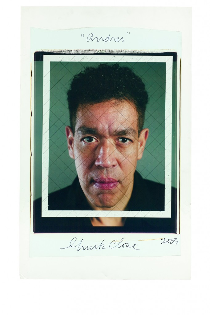 Andres maquette 2003 682x1024 Preview: Chuck Close Photo Maquettes at Eykyn Maclean New York