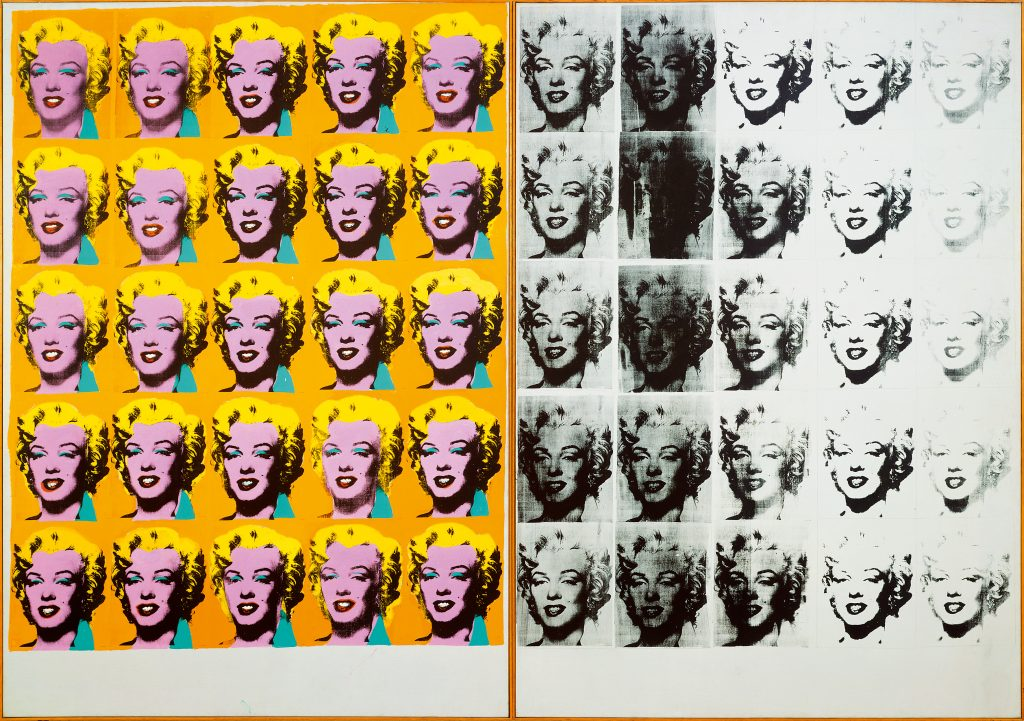 Andy Warhol (1928 – 1987) Marilyn Diptych 1962 Tate  ?© 2019 The Andy Warhol Foundation for the Visual Arts, Inc / Artists Right Society (ARS), New York and DACS, London FAD magazine