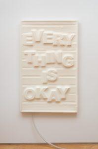 Antoine Catala, 'Don't Worry (Wood Panel)' (2017), latex, wood, foam, pump, 58 x 36 inches (147.32 x 91.44 cm) FAD MAGAZINE
