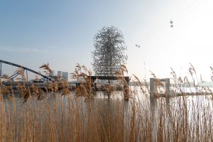 FAD MAGAZINE Antony Gormley, QUANTUM CLOUD Greenwich Peninsula (credit Emily Lovell)
