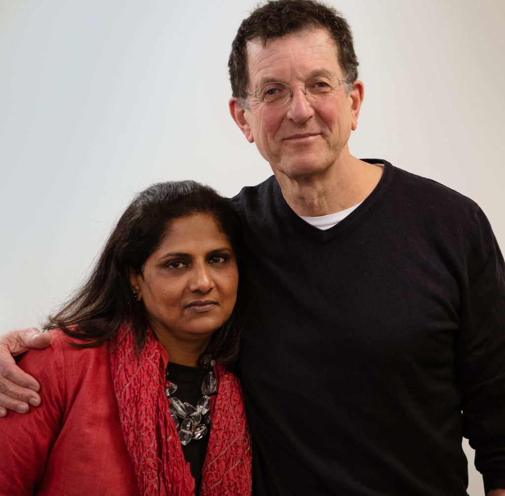 Antony Gormley and Priyamvada Natarajan, Courtesy of Acute Art