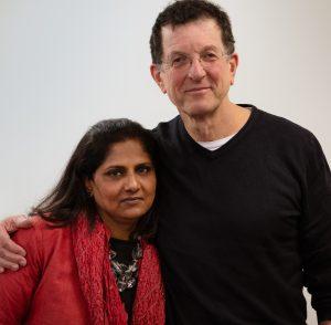 Antony Gormley and Priyamvada Natarajan, Courtesy of Acute Art