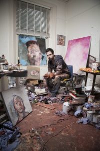 English contemporary artist and painter Antony Micallef photographs taken at his London Studio.