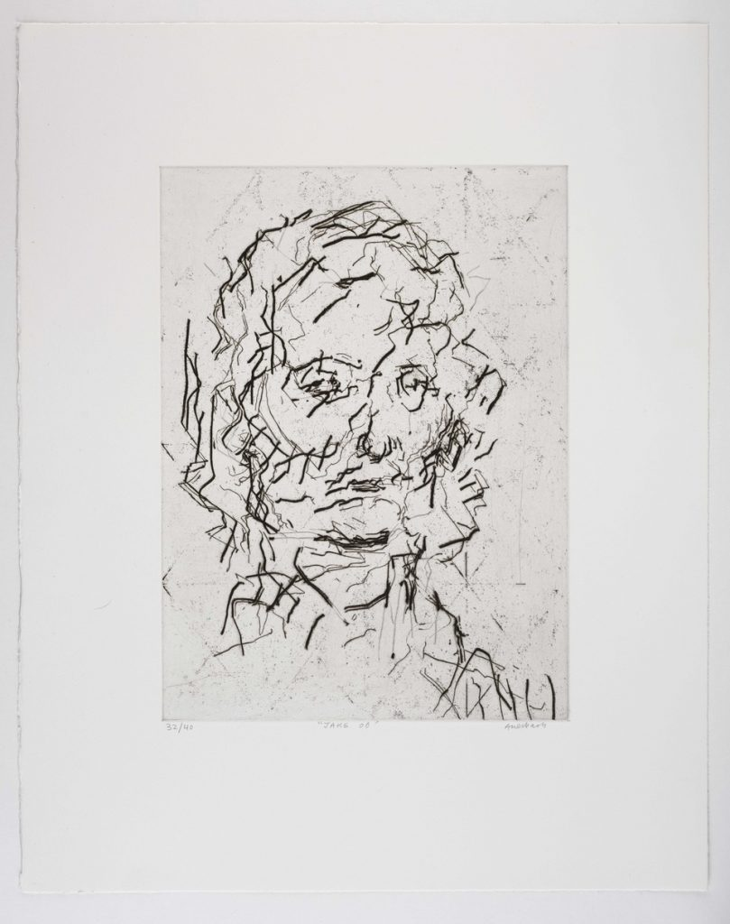 Frank Auerbach Jake, 2006 Etching and aquatint with engraving. Edition of 40 63 x 50cm  FAD magazine