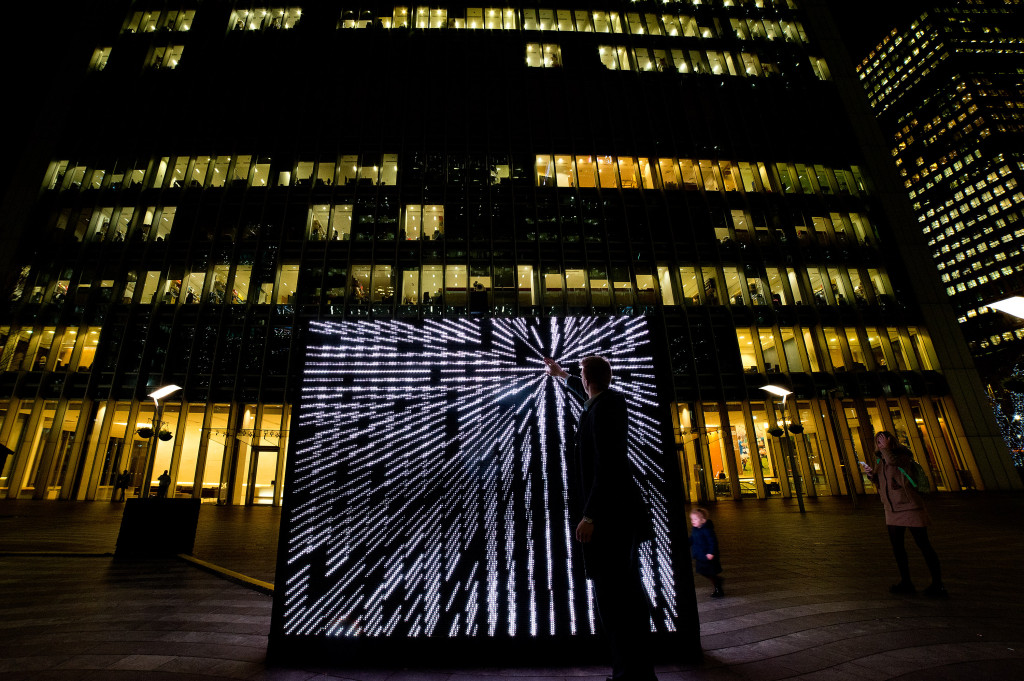 Winter Lights Exhibition At Canary Wharf