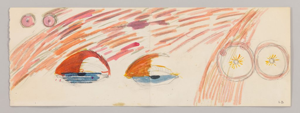 BOURG101782 Untitled 1974 Pencil and watercolor on paper 21.9 x 61.9 cm / 8 5/8 x 24 3/8 in Photo: Christopher Burke