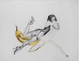 Banana Woman 1971 by Margaret Harrison born 1940