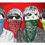 Mr Brainwash (French b.1966), 'Beatles Bandidos', 2012,