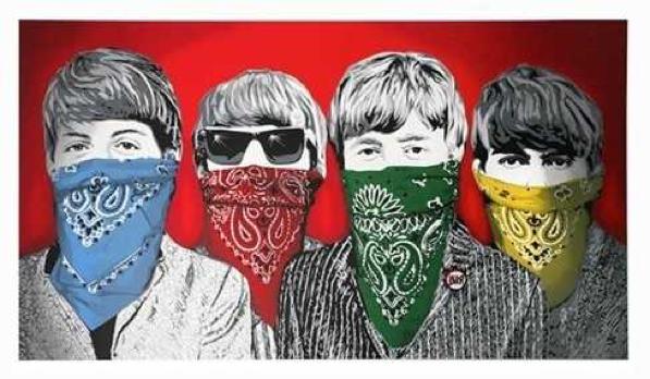 Mr Brainwash (French b.1966), 'Beatles Bandidos', 2012,