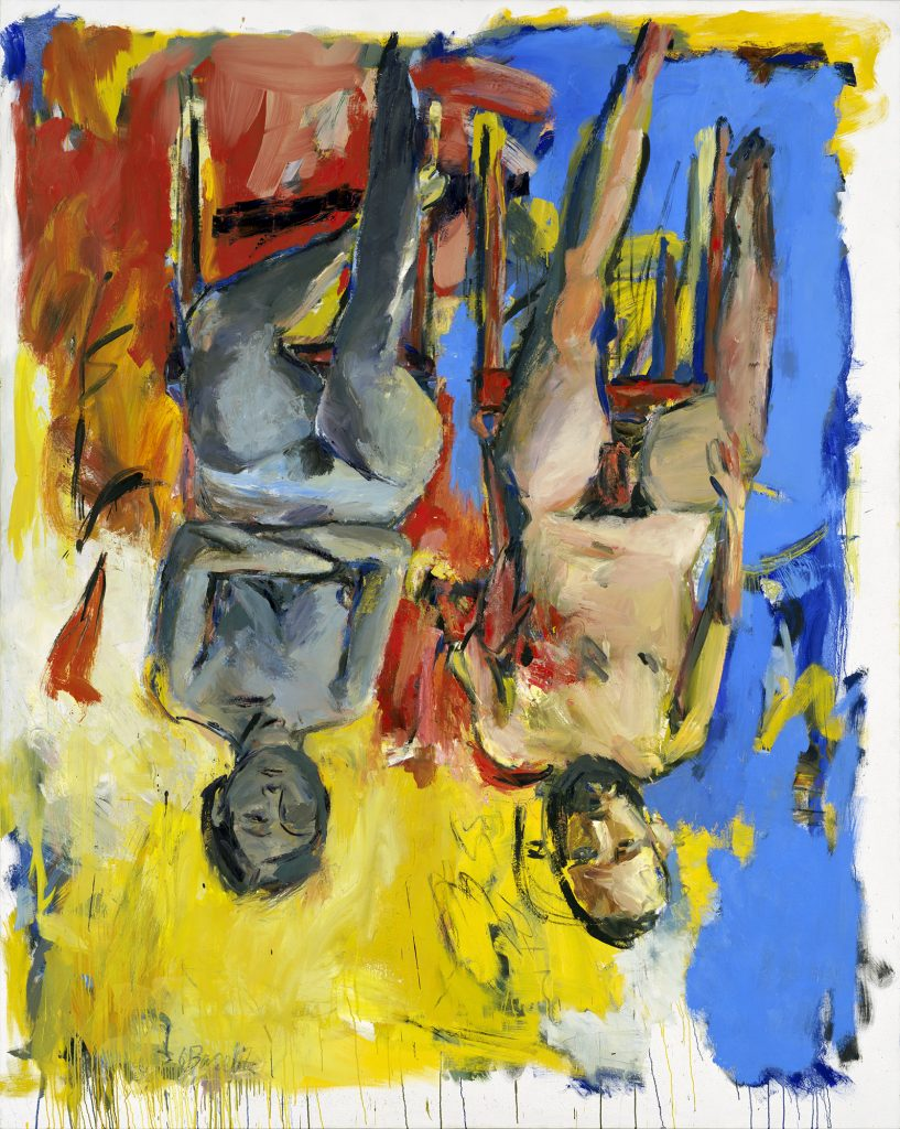 Georg BaselitzSchlafzimmer (Bedroom), 1975Oil and charcoal on canvas98 1/2 x 78 3/4in250 x 200 cmGeorg Baselitz Treuhandstiftung© Georg BaselitzPhoto: Jochen Littkemann, Berlin