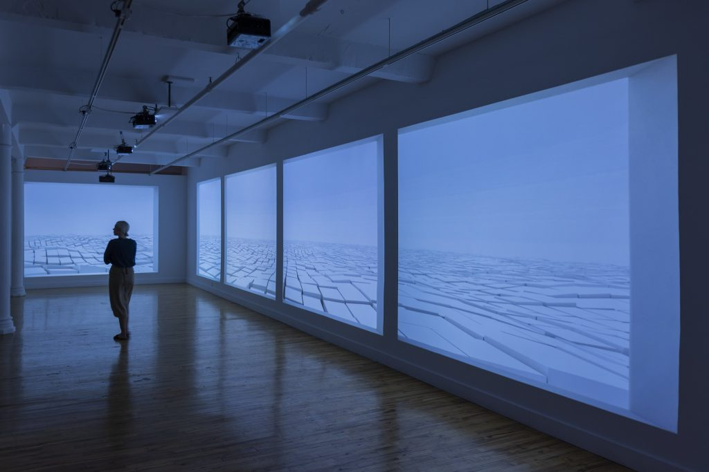 Beikyong Lee (b.1969) _Thoughtful space_, 2017, 3D animation, mapping, sound 3