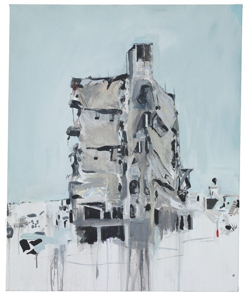 Brian Maguire, 'Aleppo 9' 2019, Acrylic on Linen, 100 x 81 cm without background