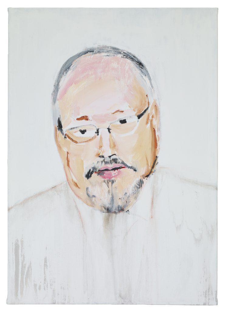 Brian Maguire, 'Jamil Khashoggi' 2019, Acrylic on Linen, 92 x 65 cm without background