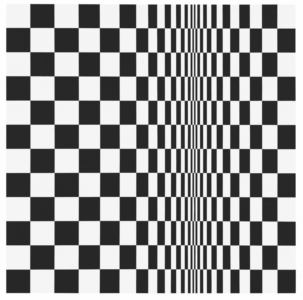 Bridget Riley Movement in Squares, 1961 Arts Council Collection, Southbank Centre, London.  © Bridget Riley 2019. All rights reserved. FAD Magazine