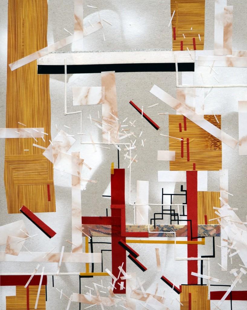 Brigade, cotton, vinyl, pvc tape on cardboard, 40x31.5cm, 2013