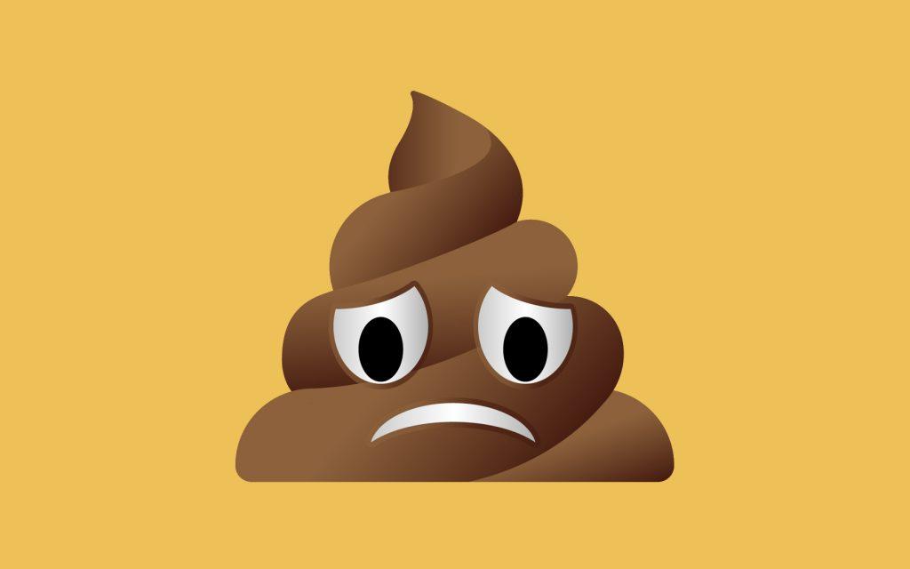 Unhappy Pile of Poo emoji