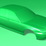 3D scan of the Rover 75 model made by Keith Harrison with Capture Point UK