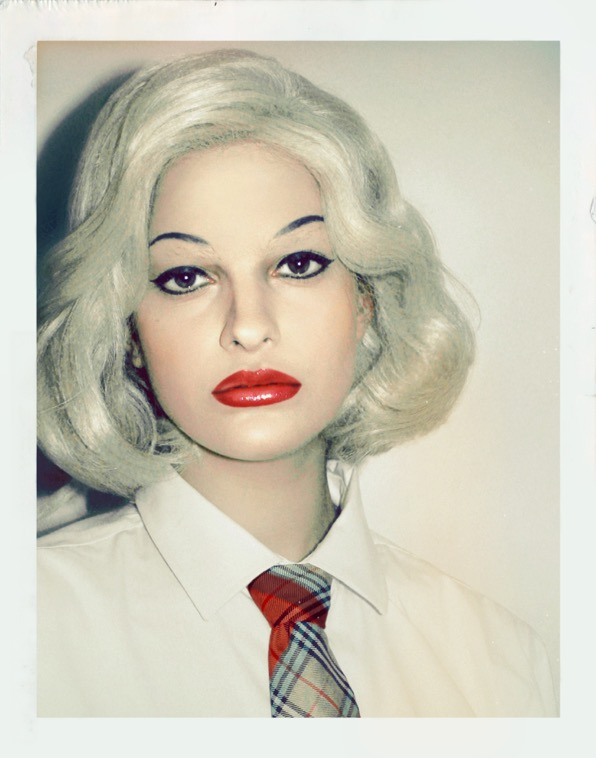 Cary Kwok - Evangeline as Andy Warhol in Drag (Polaroid)