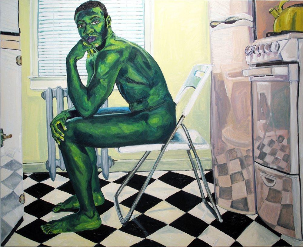 Casteel, Jordan, Galen 2, 2014, oil on canvas, 72 x 84 inches-2