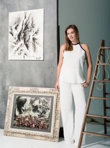 Catalina Guirado-Cheadle with Juan Antonio Guirado paintings FAD MAGAZINE