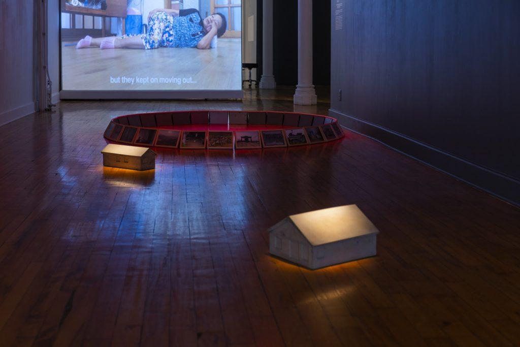 Chan Sook Choi, Yangjiri, 2018, two-channel video installation, mixed media 2