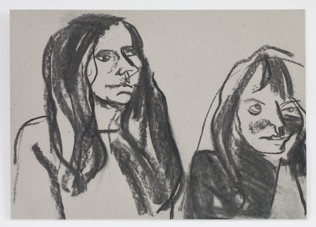 Chantal Joffe_ Self Portrait with Ishbel at Glasgow School of Art_2016 (c) Chantal Joffe