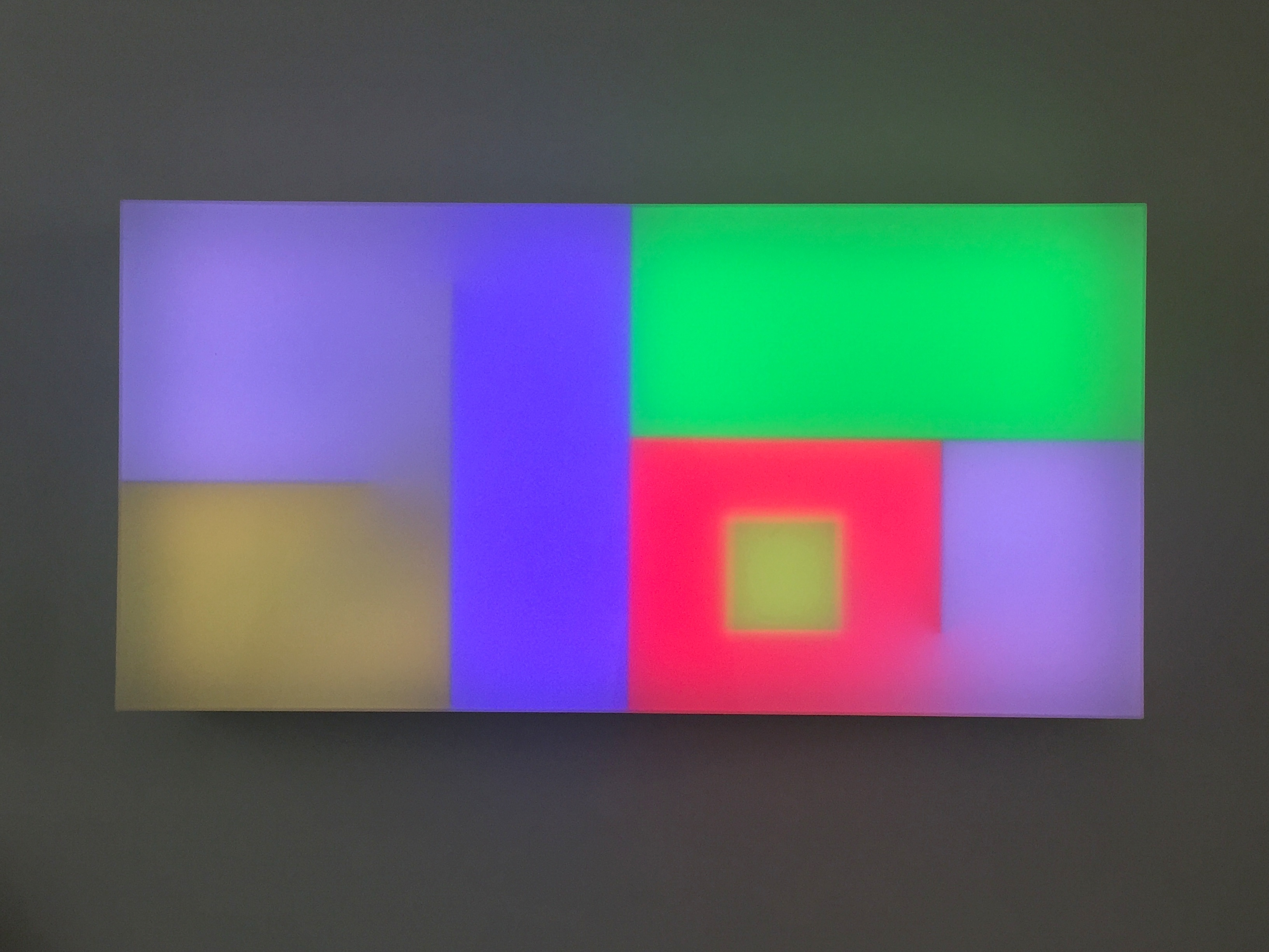 Brian Eno  Chord Tritone, 2017  Light box: LED lights, perspex, wood, usb stick  65 x 130 x 19 cm
